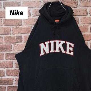 ナイキ(NIKE)の《ナイキ》人気モデル ビッグサイズ 刺繡ビッグロゴ 希少ブラック パーカー(パーカー)