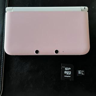 ニンテンドー3DS - 3DSLLピンク SDカード(16GB) 充電器セット
