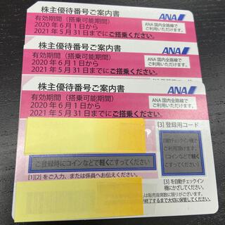 ANA(全日本空輸) - ANA株主優待券3枚セット