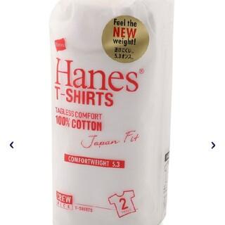 Hanes - ヘインズ ジャパンフィットクルーネックTシャツ白2枚組