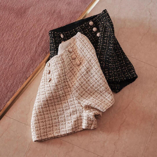 treaturself tweed check short pants