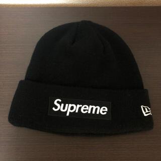 シュプリーム(Supreme)のSupreme New Era Boxlogo Beanie ブラック(ニット帽/ビーニー)