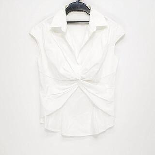 プラダ(PRADA)のプラダ 半袖カットソー サイズ42 M - 白(カットソー(半袖/袖なし))