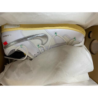 NIKE - off-white nike dunk low 1of50  26.5cm