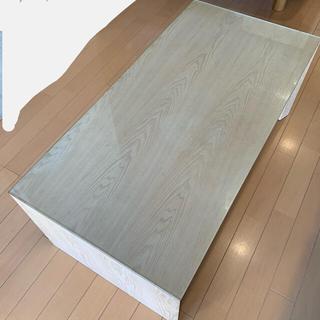 Francfranc - フランフラン テーブル コの字 ガラスウッド木製カフェソファダイニング一人暮らし