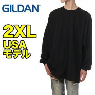GILDAN - 【新品】ギルダン 長袖 Tシャツ 2XL 黒 ロンT 無地 メンズ 大きいサイズ