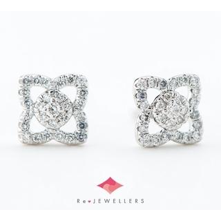 DE BEERS - デビアス エンチャンテッド ロータス  ダイヤモンド 計0.16 ピアス