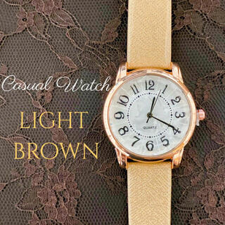 新作 レディース 腕時計 クォーツ ブラウン×ゴールド 時計 b14(腕時計)