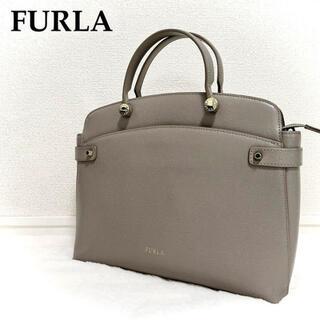 Furla - ★人気★ FURLA フルラ AGATA アガタ ハンドバッグ グレー レザー