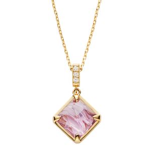 ヴァンドームアオヤマ(Vendome Aoyama)のヴァンドームアオヤマ K18 ダイヤモンド アメシストネックレス(ネックレス)