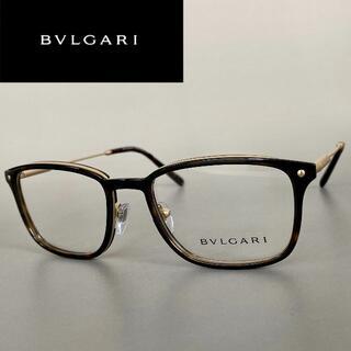 BVLGARI - メガネ ブルガリ スクエア ゴールド 鼈甲 べっ甲 金 ブラウン 高品質