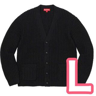 Supreme - Lサイズ Supreme Waffle Knit Cardigan Black