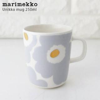 marimekko - 新品未使用 マリメッコ ウニッコ アイシーグレー ゴールド マグカップ