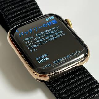 Apple Watch - 試着のみBT100% Apple Watch series4 ステンレスゴールド