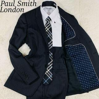Paul Smith - 【美品】ポールスミスロンドン ケンジントン シルク混 セットアップ 黒 Sサイズ