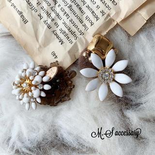 Flower*盛りカボションピアス