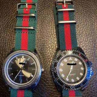 本日中の出品 dude9 ノベルティ 腕時計 クオーツ 2本セット