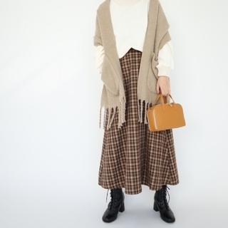 しまむら - しまむら teraさん TRWTRボタンCK88 チェック柄スカート Lサイズ
