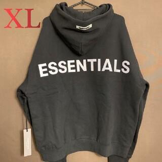 パーカー2枚12000円反射光ロゴブラックfog essentials#V1XL(パーカー)