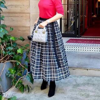 Drawer - オブリ OBLI ロングスカート シフォンチェックスカート