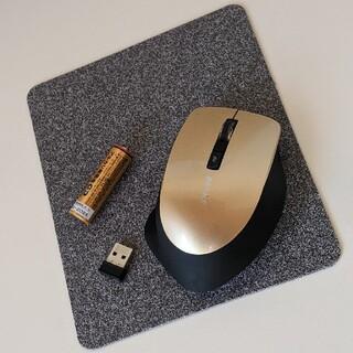 Buffalo - バッファロー ワイヤレスマウス マウスパッド付! blueLED ゴールド