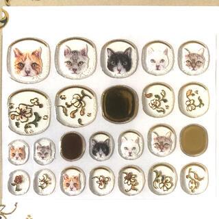 フェリシモ(FELISSIMO)のフェリシモ aoikogaさん猫ネイルシール 〈キンランデ風〉(ネイル用品)