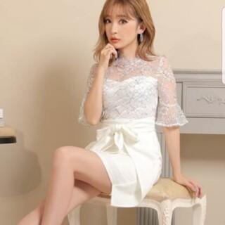 dazzy store - レース袖ドレス