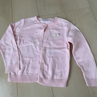 familiar - 【size100】ファミリアカーディガン ピンク 美品