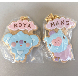 バンダイ(BANDAI)のBTS BT21 クッキーチャームコット MANG KOYA セット 未開封(アイドルグッズ)