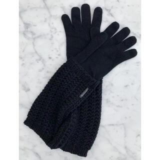 モンクレール(MONCLER)の新品モンクレールMONCLER カシミア混 手袋 ニットロンググローブ BK♪(手袋)