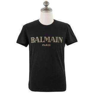 バルマン(BALMAIN)のバルマン 半袖Tシャツ TH11601I312 BLK GOLD size S(Tシャツ/カットソー(半袖/袖なし))