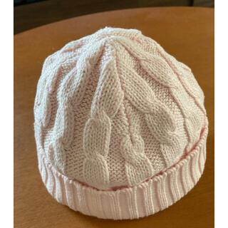 ベビーギャップ(babyGAP)のbaby GAP ニット帽子 ピンク(帽子)