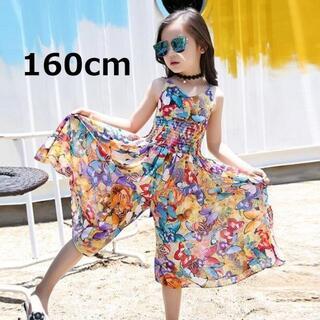 韓国子供服 オールインワン パンツ カラフル 160cm 1点