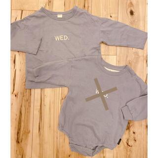 フタフタ(futafuta)のtete a tete ꕤ 曜日カットソーWednesday(Tシャツ/カットソー)