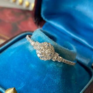 天然ダイヤモンド プラチナリング 0.50CT