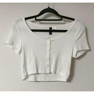 H&M - H&M クロップトップス ホワイト 白