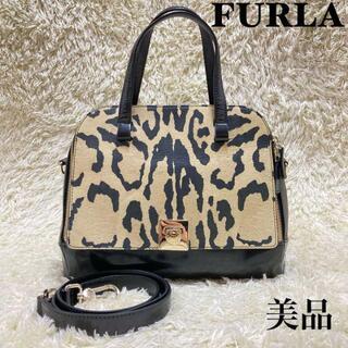 Furla - ✨美品✨ フルラ レオパード 2way ショルダーバッグ 異素材ドッキング