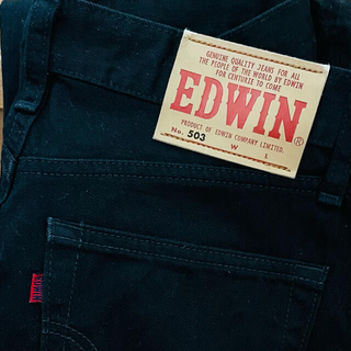 EDWIN - EDWIN/エドウィン 503 レギュラーストレートジーンズ ブラック29インチ