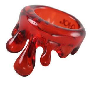 キューポット(Q-pot.)のQ-pot メルトリング(クリアレッド)(リング(指輪))