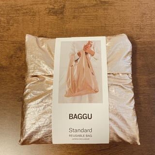 ビームス(BEAMS)のBAGGU エコバッグ スタンダード ピンクゴールド 送料・手数料込み(エコバッグ)