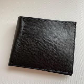 Hermes - HERMES エルメス シチズンツイルコンパクト 黒 二つ折り財布