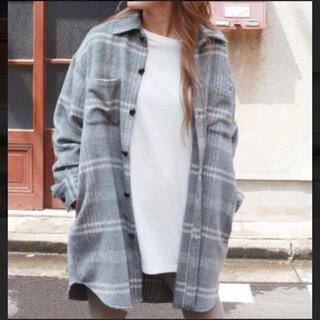 Ungrid - ungrid  シャギーチェックルーズシャツ  完売品