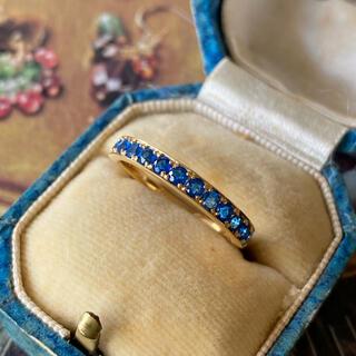 【再入荷】天然アウイナイト 天然ダイヤモンド 一文字リング ソーティング付き