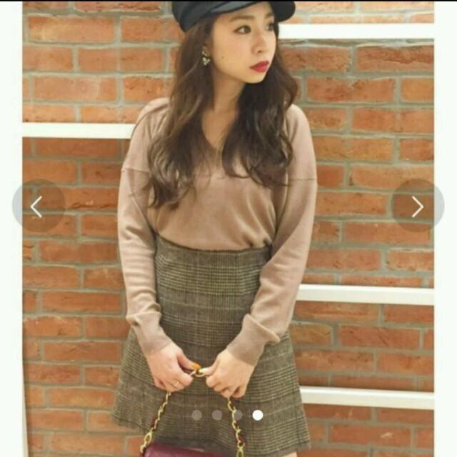 MERCURYDUO(マーキュリーデュオ)のマーキュリーデュオ グレンチェック台形ミニスカート レディースのスカート(ミニスカート)の商品写真