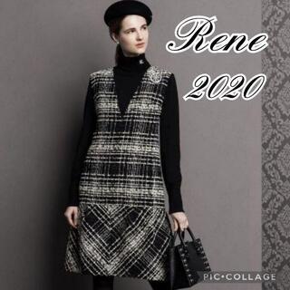 René - 新品2020Reneルネマリアケント社製ツイードワンピース