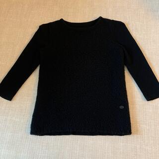 フォクシー(FOXEY)のFOXEY 38 リブニット 7分袖 ブラック(カットソー(長袖/七分))
