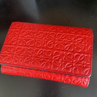 ロエベ(LOEWE)のLOEWE 二つ折り財布 ウォレット カードケース(折り財布)