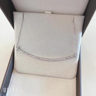新品同様 K18WG スマイルモチーフ ダイヤモンド ネックレス 1.00ct
