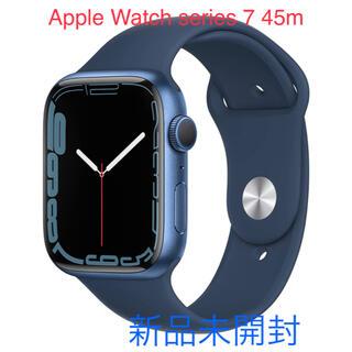 アップルウォッチ(Apple Watch)のApple Watch series 7(GPS)45mm ブルー アルミニウム(その他)