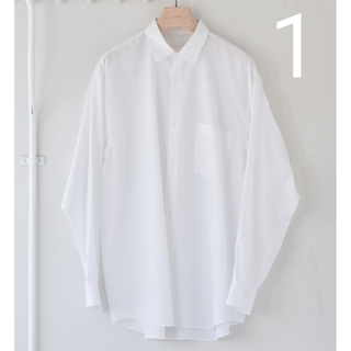COMOLI - 新品■21AW COMOLI シャツ 新型 1 ホワイト 白
